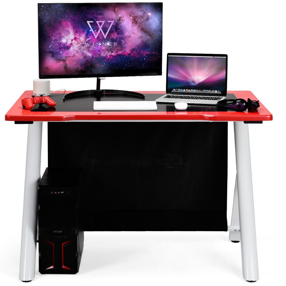 E-Sports Ergonomic Gaming Desk Gamers Computer Writing Table #gamingdesk