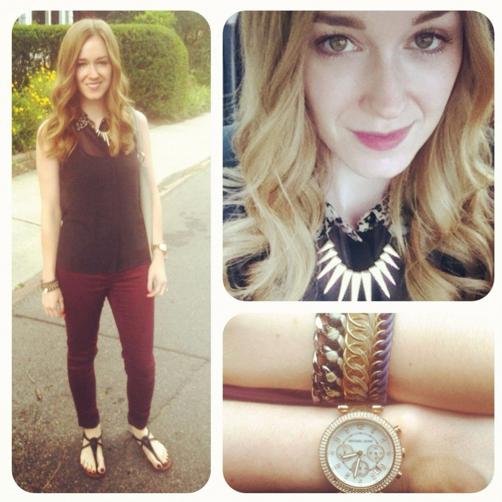 Dainty Outfit Burgundy Denim - Can't get enough burgundy for fall!