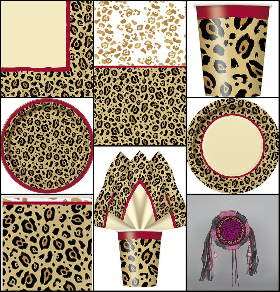 LEOPARD/CHEETAH ANIMAL PRINT BIRTHDAY PARTY TABLEWARE DECORATIONS PLATES CUPS.  sc 1 st  Pinterest & LEOPARD/CHEETAH ANIMAL PRINT BIRTHDAY PARTY TABLEWARE DECORATIONS ...