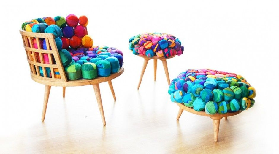 Recycled Silk Chair, Ottoman & Stool by Meb Rure | muebles y objetos ...