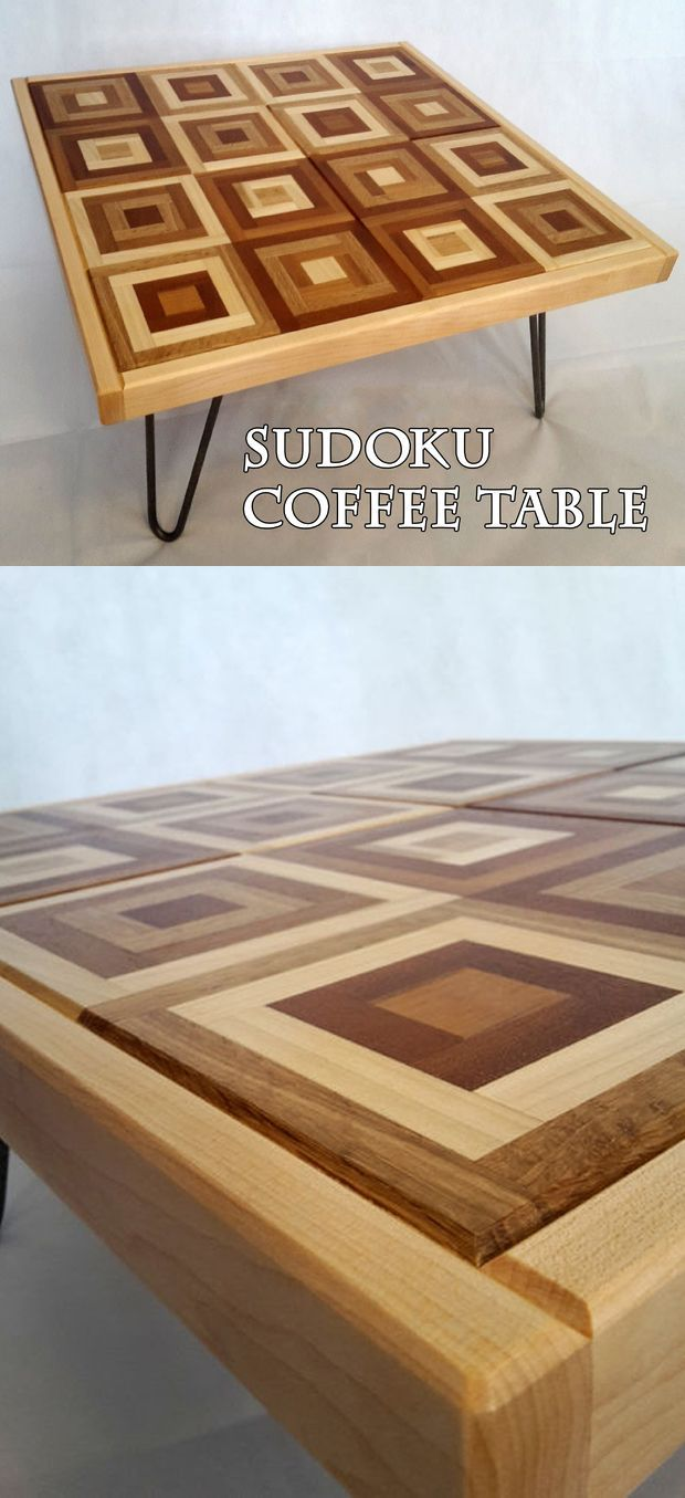 Sudoku Coffee Table Coffee Table Wood Table Diy Wood Sofa Table [ 1355 x 620 Pixel ]