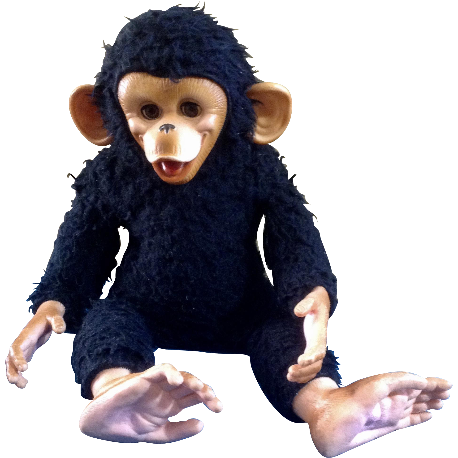 Vintage Gund Rubber Face Monkey Sleeping Eyes Life Like Black Chimp Stuffed Animal Plush Rubber Face Chimp Gund [ 1938 x 1938 Pixel ]