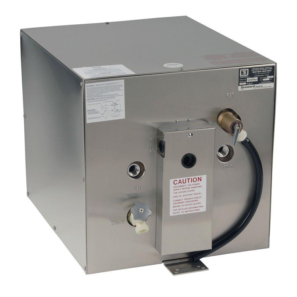 Whale Seaward 11 Gallon Hot Water Heater W Rear Heat Exchanger 1500 W 120v Whalewatersystems Heat Exchanger Water Heater Hot Water Heater