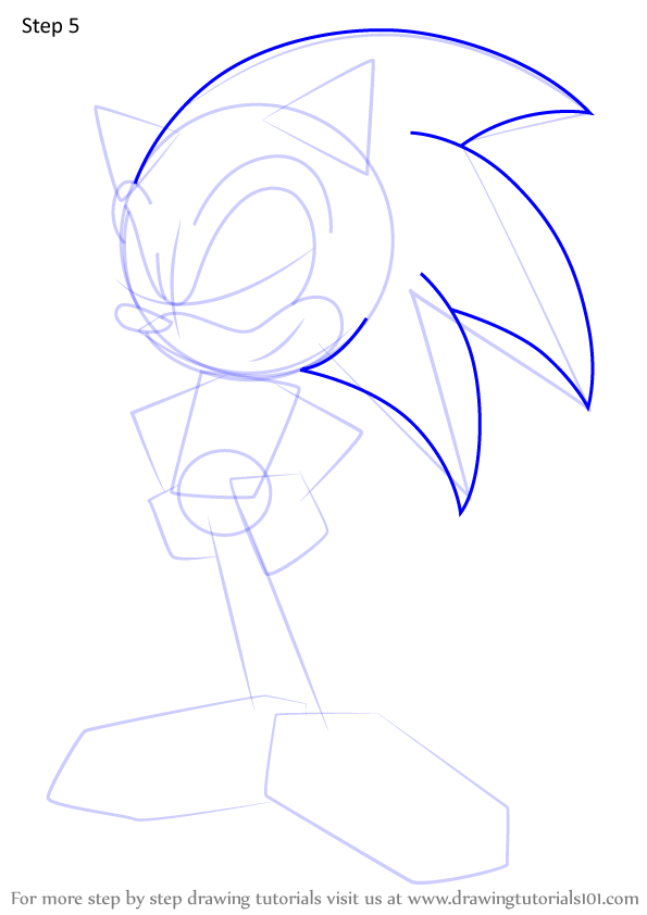 Learn How To Draw Sonic The Hedgehog From Sonic X Sonic X Step By Step Drawing Tutorials How To Draw Sonic Drawings Hedgehog Drawing