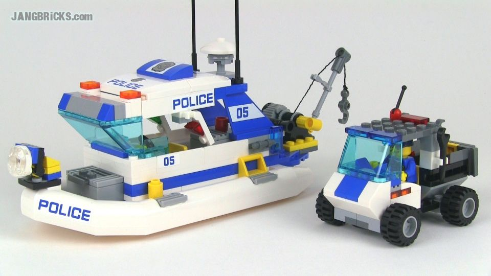 Town Police Patrol Boat 4021 Lego Lego Police Lego Boat