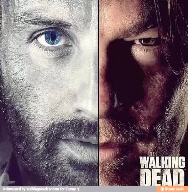 The 2 faces of the walking dead