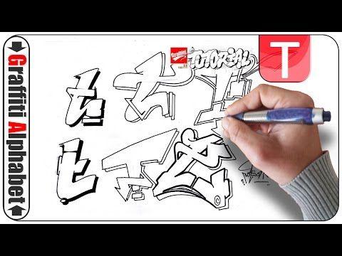 Graffiti Alphabet Buchstabe T