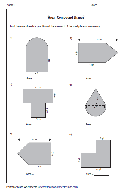 Area of Compound Shapes - Type 1   Homeschool 5th and 3rd ...