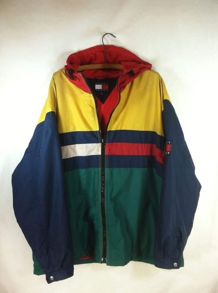 vtg 80's to 90's Nordica Artsy color block jacket. Large
