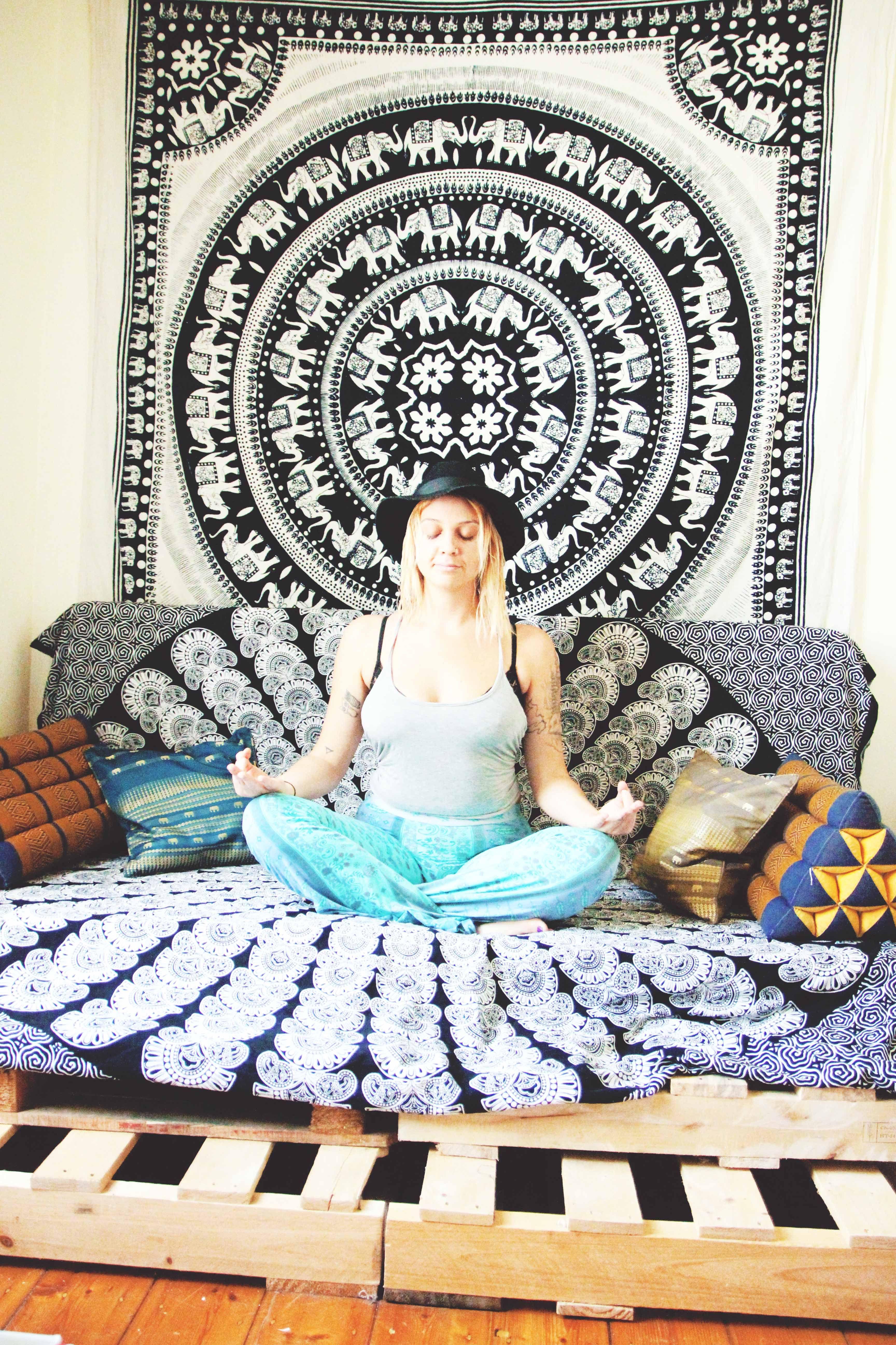 Day Bed fice Space Daze We Are All e Elephant Mandala Throw