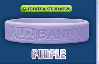 Kid Id Bracelet Purple Put Their Information On The Inside