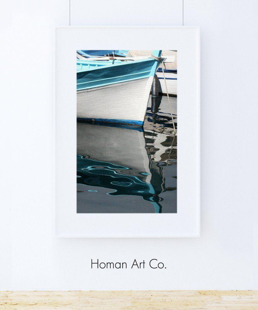 Blue Boats Ii Maritime Modern Aquatic Nautical Decor Coastal Wall Art Colour Photography Printable Art Instant Digital Download Modern Artwork Digital Artwork Nautical Wall Art
