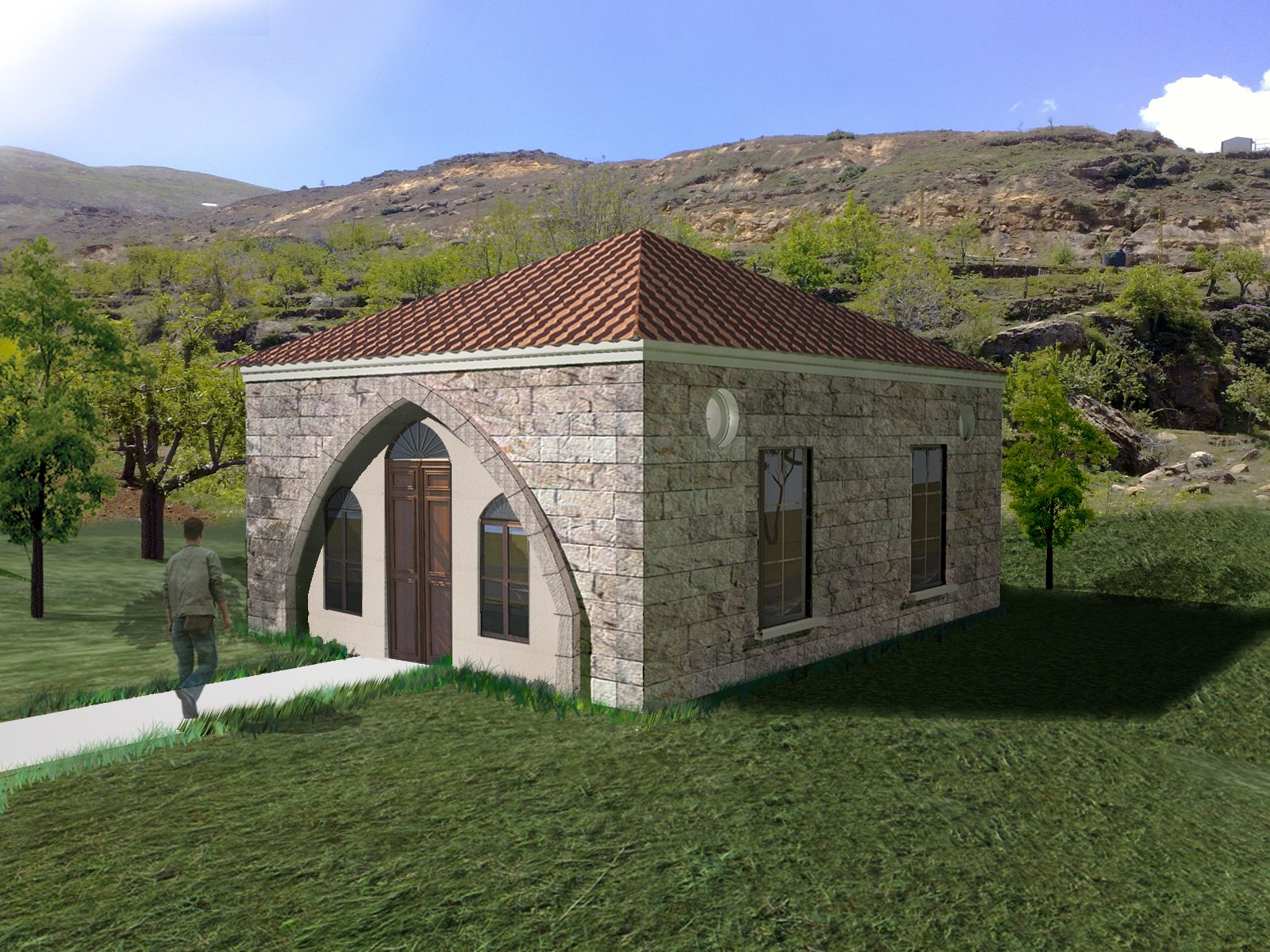 Pre Fabricated house, Traditional lebanese house | Office ...