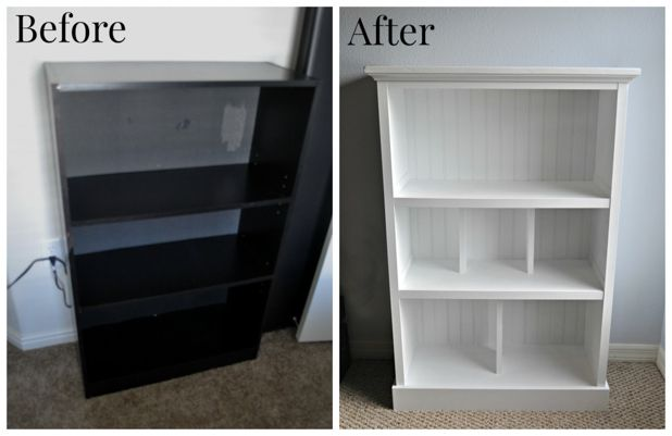 Old bookcase on pinterest refurbished bookcase bookcase for Cheap home makeovers
