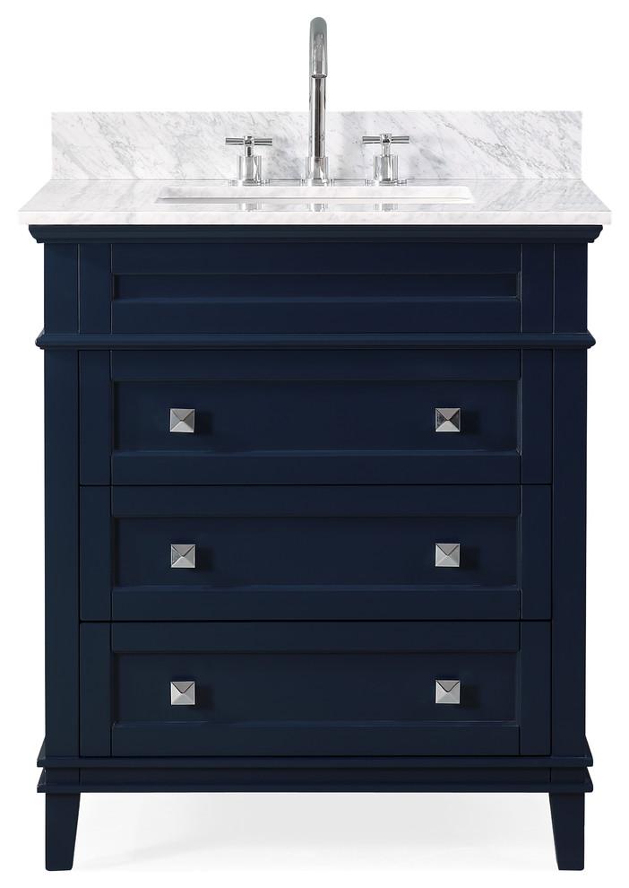 30 Felix Navy Blue Modern Bathroom Vanity Transitional Bathroom Vanities And S In 2020 With Images Blue Modern Bathrooms Modern Bathroom Vanity Transitional Bathroom Vanities