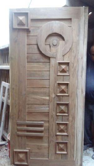 Teak Wood Double Door Design Latest