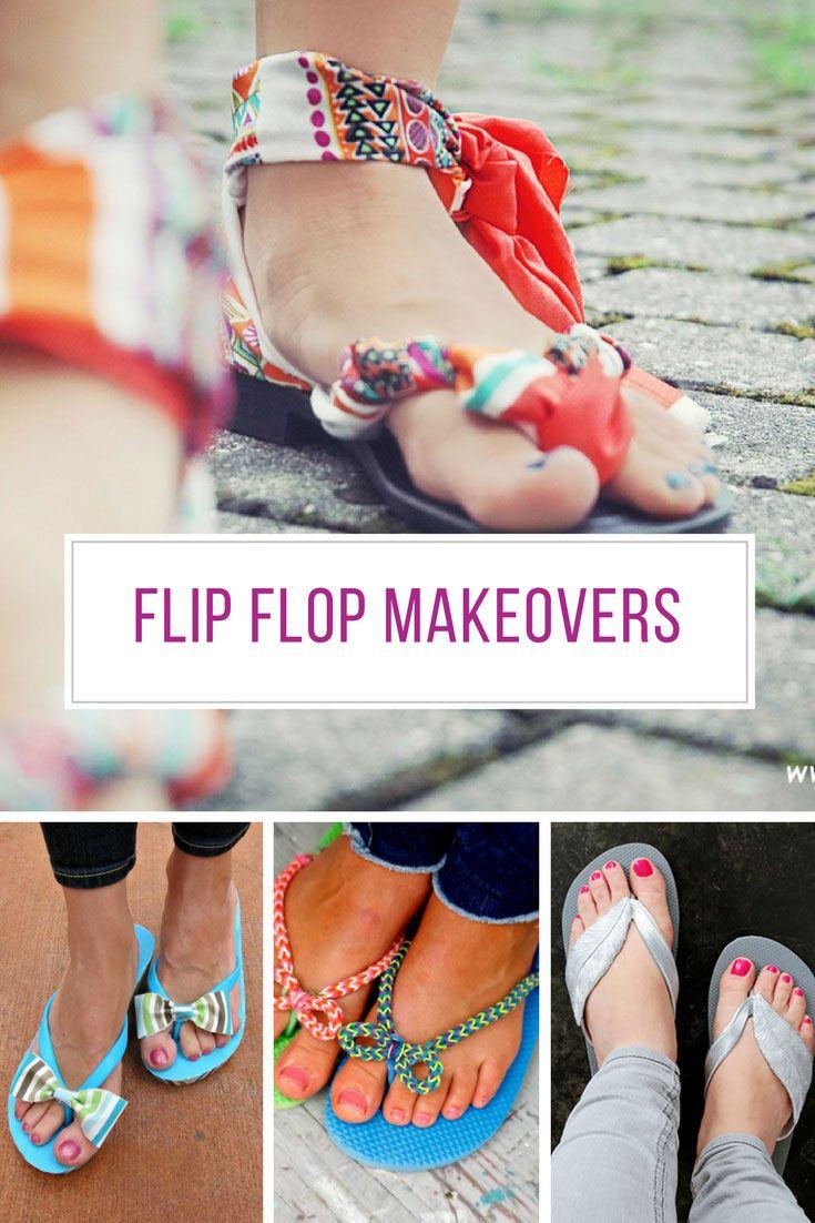 d78dddd74a2d0 Brilliantly easy diy flip flop makeovers you have to diy jpg 735x1102 Flip  flop makeovers