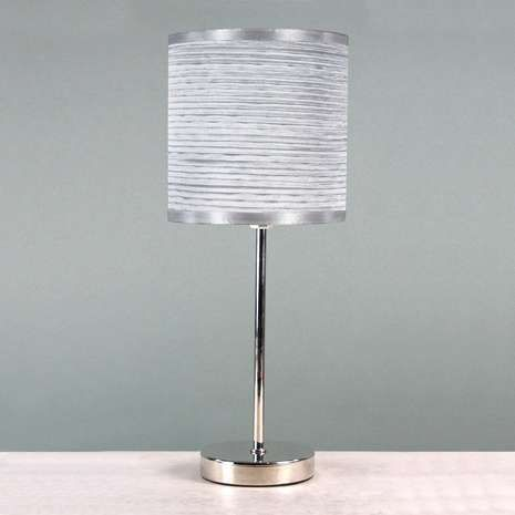 Ripple chrome stick lamp dunelm