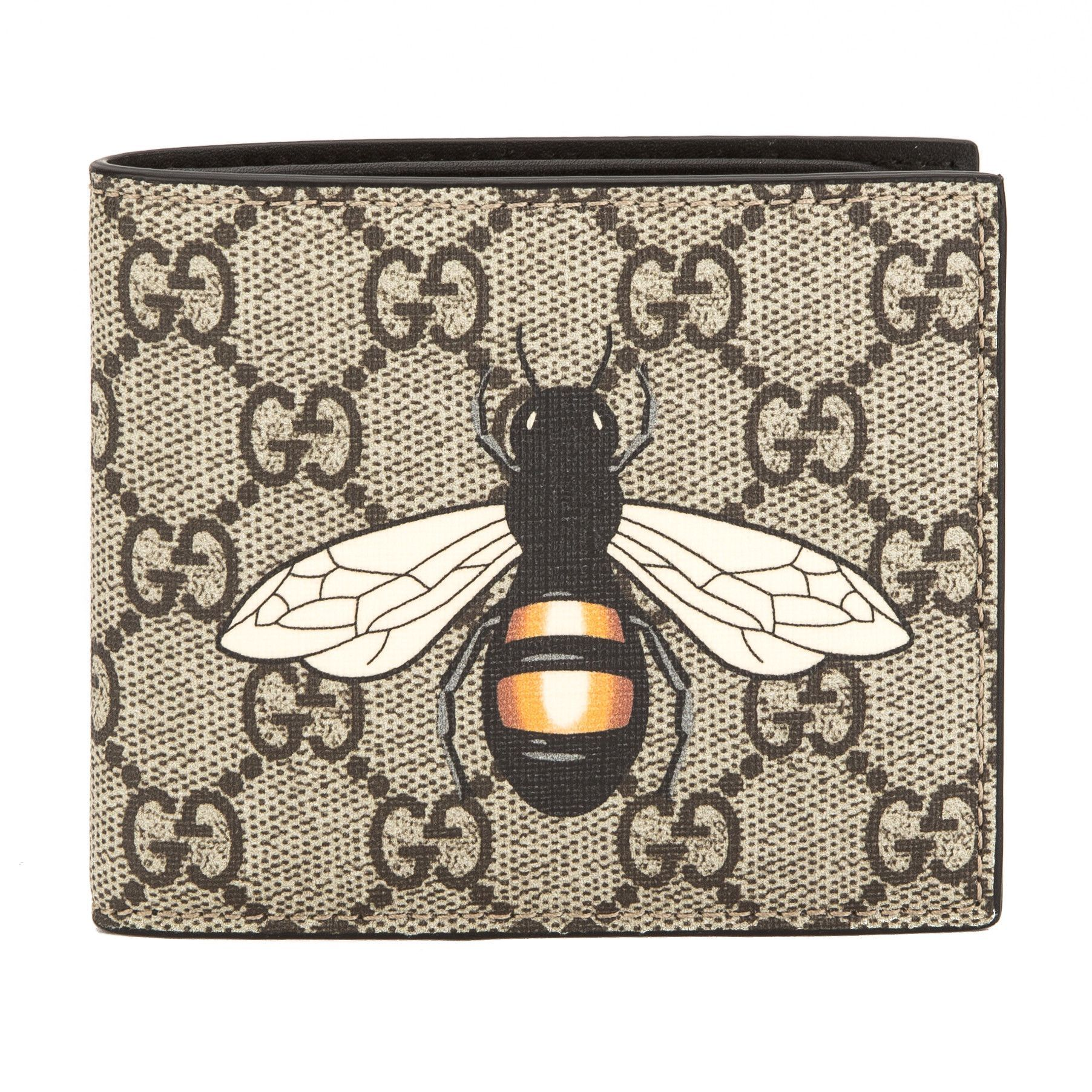 8e3f8d7a9c950 Gucci GG Supreme Canvas Bee Print Wallet (New with Tags)