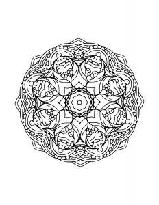 Indisches Mandala 3 Mandala Zum Ausdrucken Mandalas Zum Ausdrucken Mandalas Kostenlos