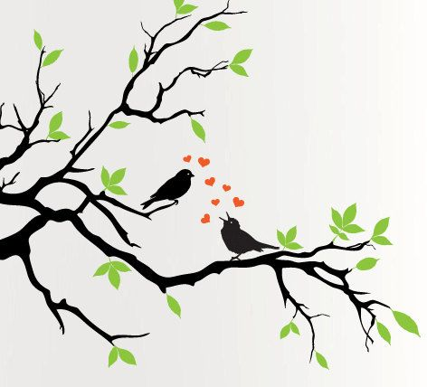 Aw This Is Sweet Tree Painting Wall Painting Leaf Wall Stencil