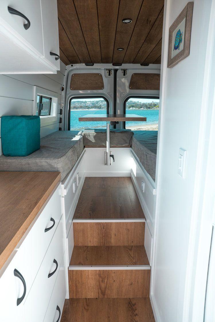 Photo of OUR VAN BUILD WORK   Mercedes Sprinter Van Conversion with Bathroom & Mini Garage — Sara & Alex James – 40 Hours of Freedom