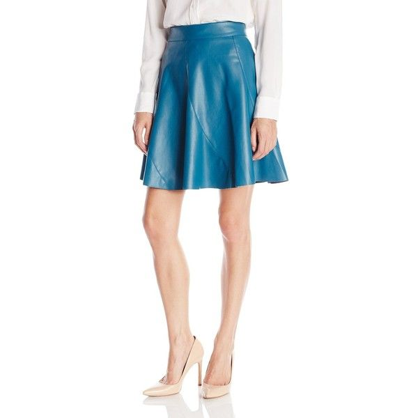 Bailey 44 Women's Sedgwick Faux Leather Skirt ($98) ❤ liked on Polyvore featuring skirts, bailey 44 skirt, faux leather skirt, bailey 44, flared skirt and vegan leather skirt