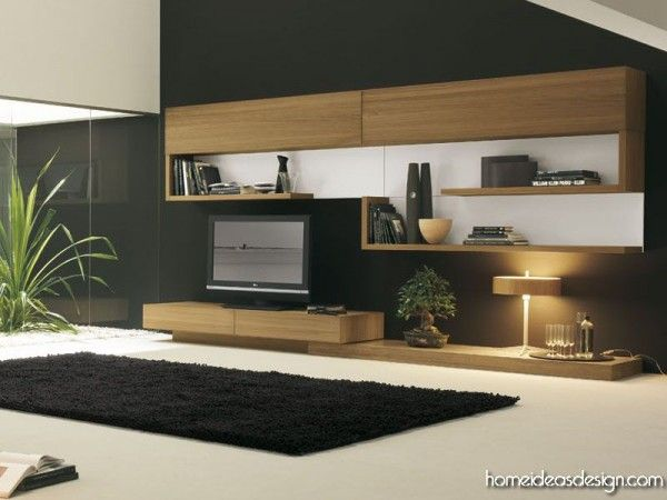 Modern wall unit - like the look but not enough storage salon
