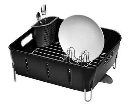 Best Simplehuman Dish Rack Compact Plastic Black Simplehuman 640 x 480