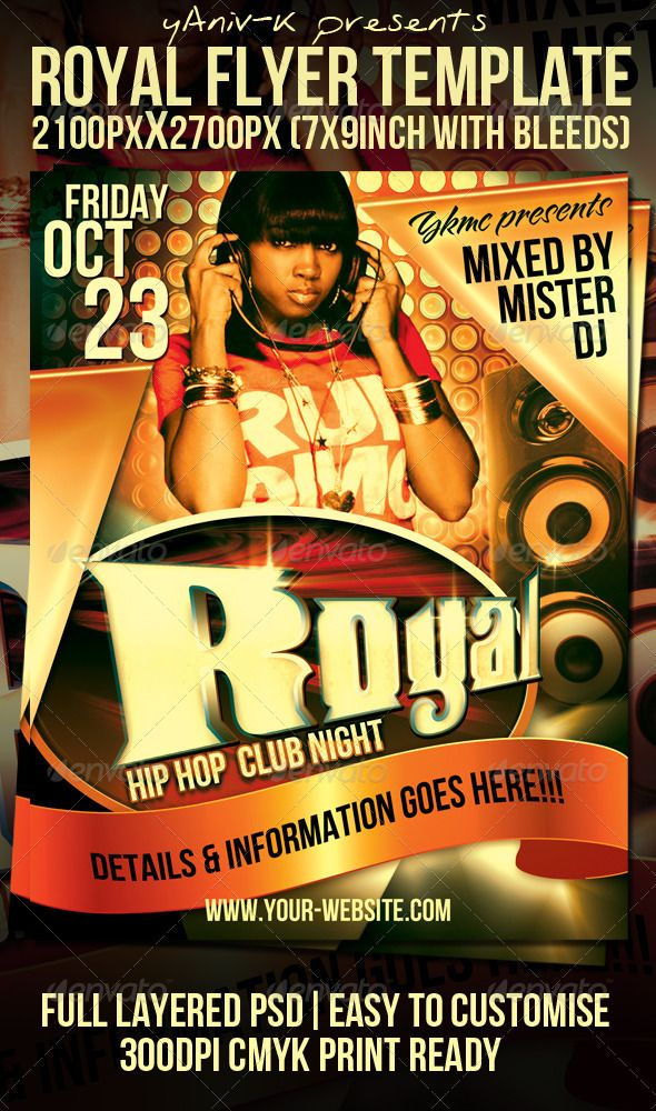 Royal Flyer Template  Flyer Template Template And Royals