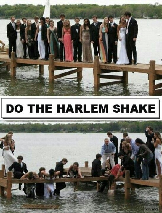 And they did the Harlem Shake