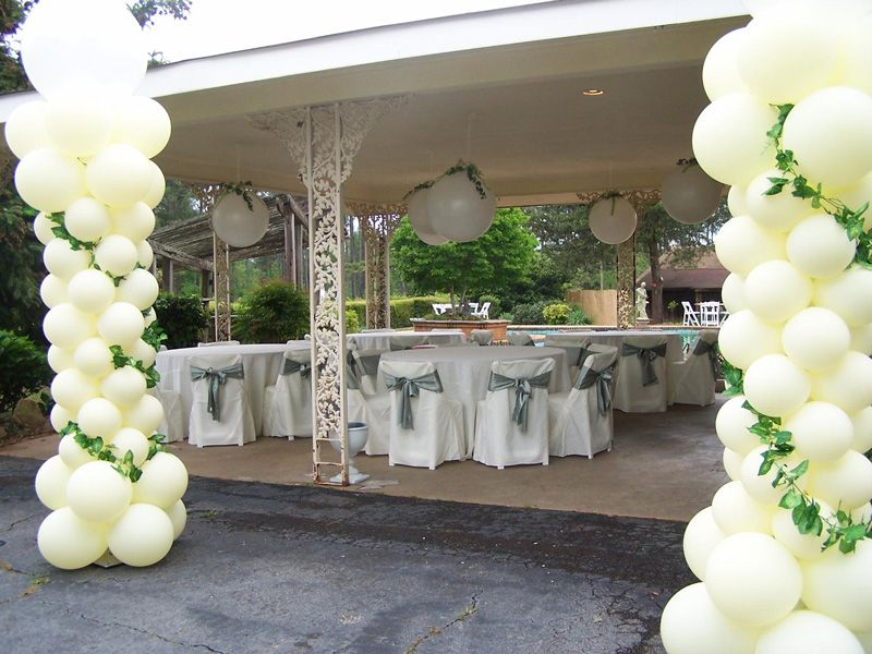 White And Emerald Green Theme Wedding Decoration Balloons Emerald