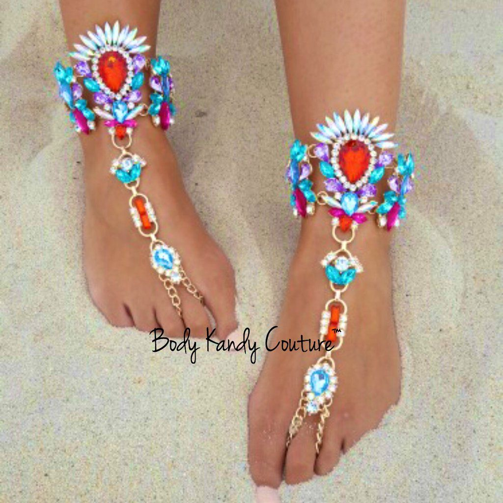 Chiquita Barefoot Sandals Beach foot jewelry Beach feet and Barefoot