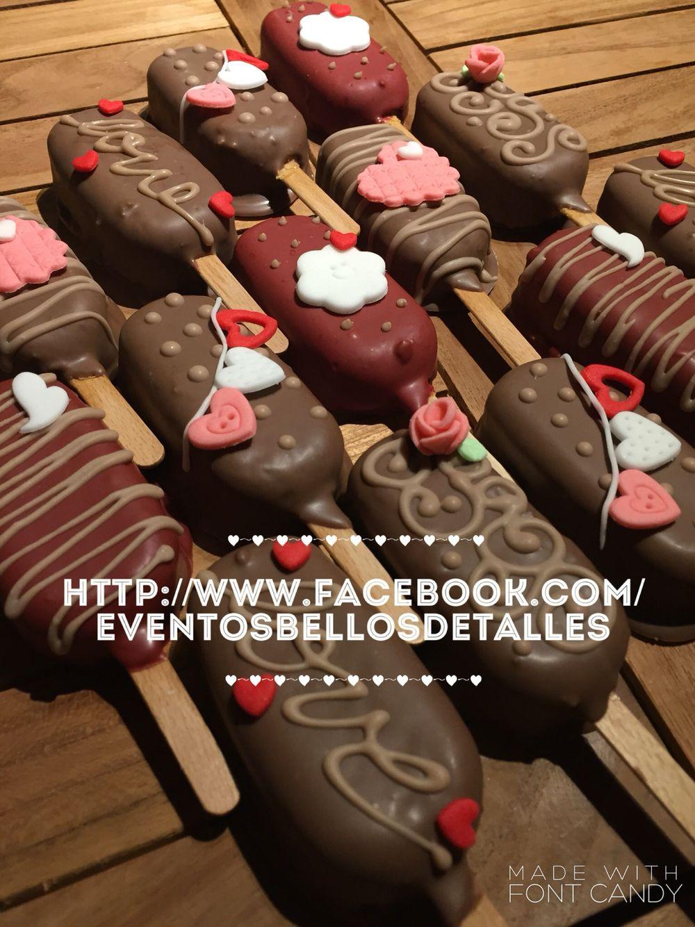 Paleta de pastel tipo magnum cubierta de chocolate san Valentín cake pop