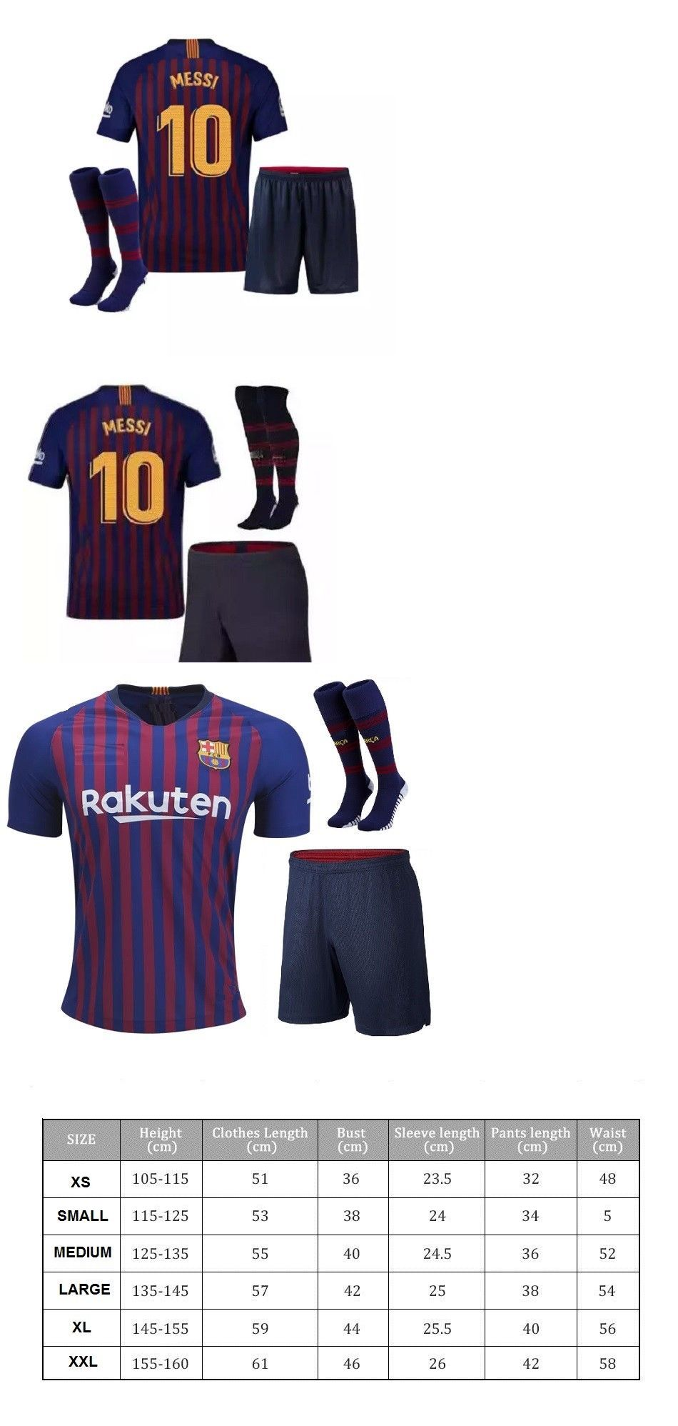 5a4e59781 Clothing 33485  Barcelona Messi Home Navy Blue Red Kids Jersey ...