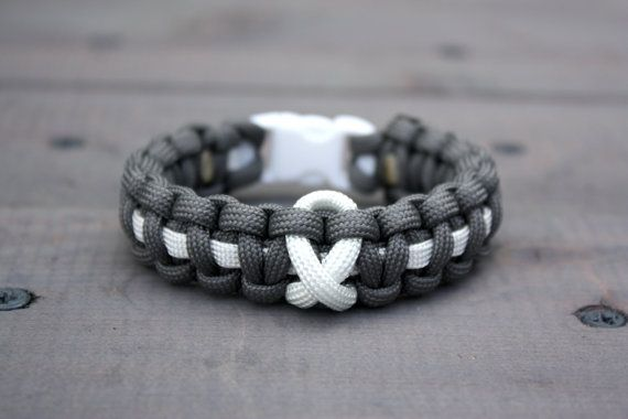 Lung Cancer Awareness Paracord Bracelet By Thesiegelpe