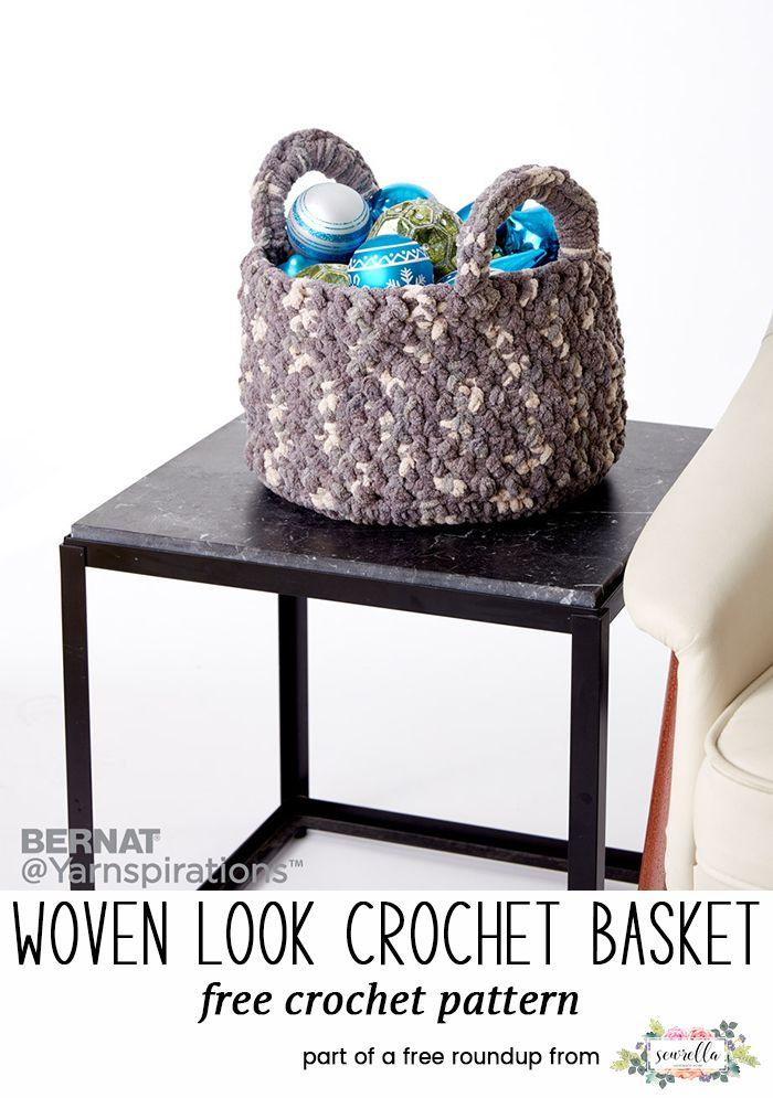 10 Best Crochet Basket Patterns   Yarnworks   Pinterest