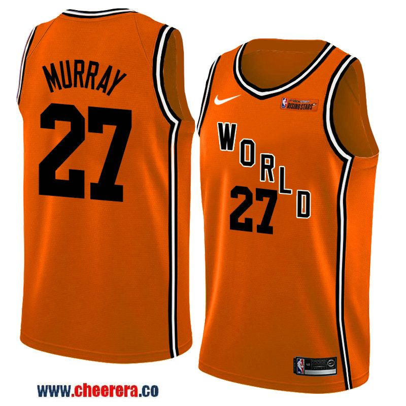 2018 nba all-star rising stars challenge men s orange denver nuggets  27  jamal murray jersey-team world 13bdb9d7a