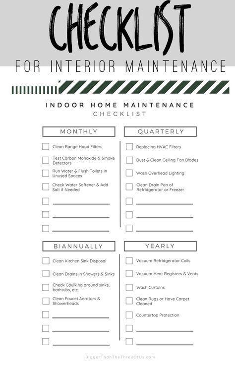 Photo of Checkliste für die Wartung von Innenräumen – größer als wir drei