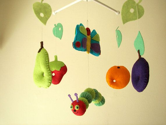 Baby crib mobile forest mobile animal mobile fruits by Feltnjoy