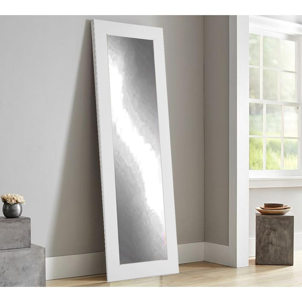 Brandtworks Modern Matte White Full Length Framed Mirror