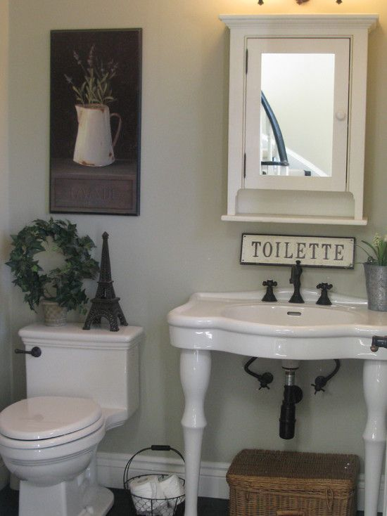 Traditional Half Baths Design Pictures Remodel Decor And Ideas Page 45 French Country Bathroom French Bathroom Decor French Bathroom