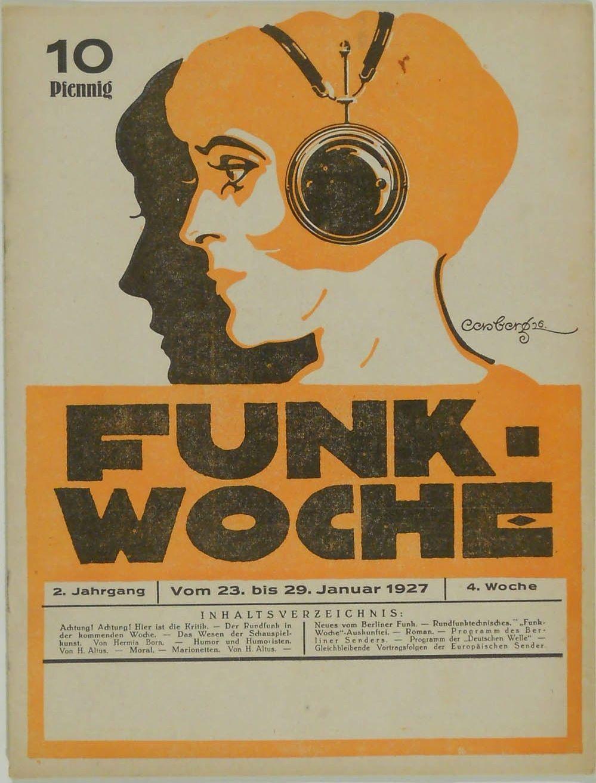 FUNK-WOCHE * RADIO * PROGRAMMHEFT  * 1927 * WOCHE 4
