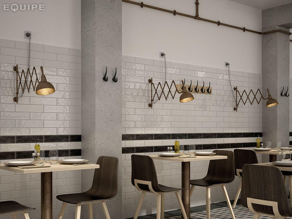 Restaurant Kitchen Tiles White Paste Wall Tiles Masia By Equipe Ceramicas Interior