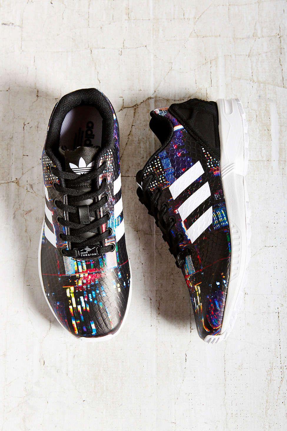 Adidas Originali Zx Flusso Città Stampa In Scarpe Da Ginnastica Diamoci