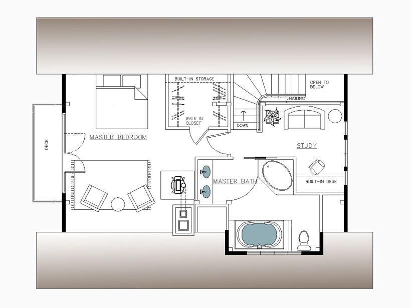 Plymouth Beach Carriage House Plan Top Floor Second Floor