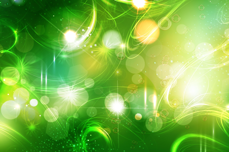 Shining Star Green Abstract Wallpaper