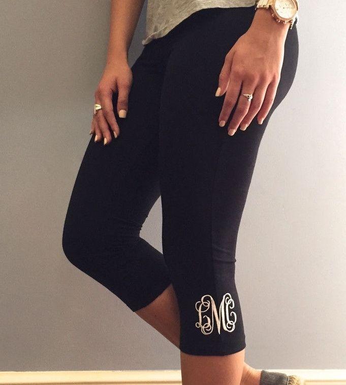 Details About 3 Initials Custom Vine Monogram For Leggings