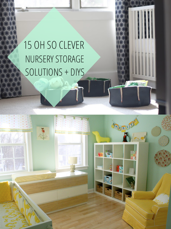 15 Oh So Clever Nursery Storage Solutions And Diys