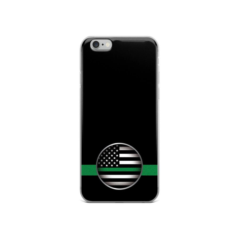 iPhone Case - Thin Green Line